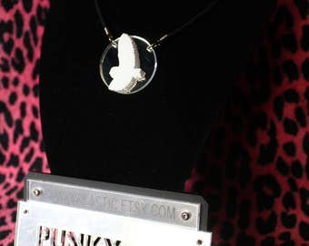 Acrylic owl silhouette necklace