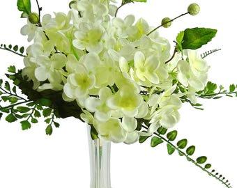 "15"" Cream Hydrangea Bouquet"