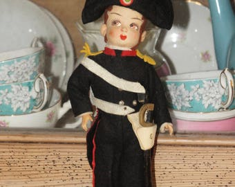 Vintage Napoleon Historical Collectible Doll With Detailed Uniform, French Leader, France, French Revolution, Europe, Retro, Gift, Display