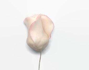 Blush Pink Rose Buds for sugar flower arrangements, fondant gumpaste flower wedding cake toppers, cake decorations, filler flowers
