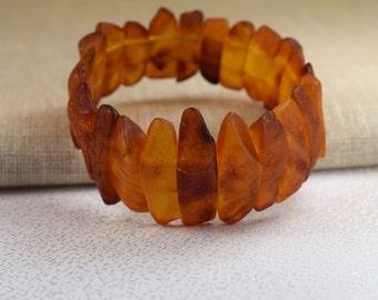 Amber Bracelet, Baltic amber, Amber jewelry, Men and Women Raw Amber Bracelet, Baltic Amber Bracelet, Men Amber Bracelet, Stretch Bracelet