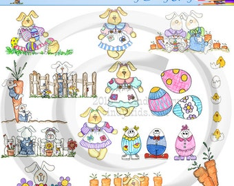 Easter (2) Clipart Set 300 DPI, PNG Images