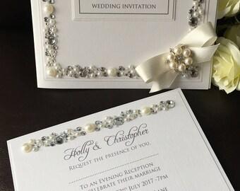Sparkle, luxury wedding invitatiom