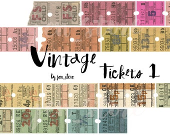 Washi Tape Original - Vintage Tickets Washi exclusive design