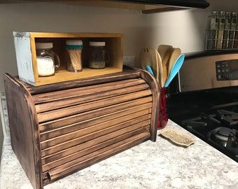 Rustic Wooden Bread Box