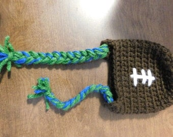 Braided football hat