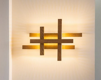 LED wall light -wooden sconce - modern home deco - unique design - lighting - modern wood lamp