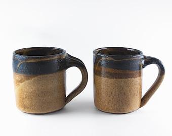 Coffee Mugs, 2 ceramic mugs, two mugs for hot drink, handmade mug, pottery cup, beer mug, a pair of coffee mugs, tea cups (A-mug-3)