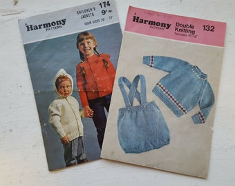 REDUCED IN PRICE -Vintage Knitting Pattern / Harmony / 132 / 174
