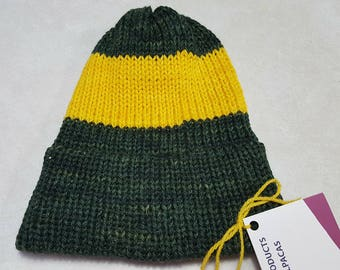 Yellow and Green Alpaca blend hat