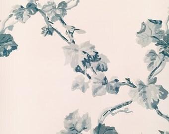 Motif Vintage Wallpaper Grayling Small Blossom Blue Sky