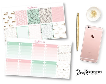 Baby It's Cold Outside Weekly Planner Sticker Kit with Planner Clip | Winter Planner Stickers | 132 Stickers