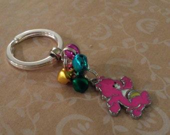 Cheer Bear Care Bear silver keychain