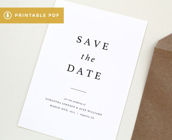 modern save the date template simple printable pdf save the. Black Bedroom Furniture Sets. Home Design Ideas