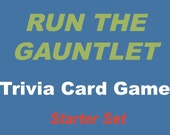 Printable Trivia Card Game, 4-7 Players, Age 11 and up, Run the Gauntlet, Action Cards, Sports and Games Question Cards