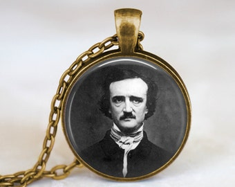 Edgar Allan Poe -  Handmade Pendant Necklace