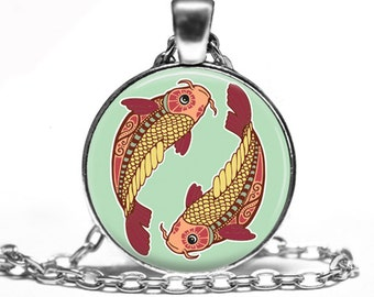 Pisces Zodiac Sign Constellation - Handmade Pendant Necklace