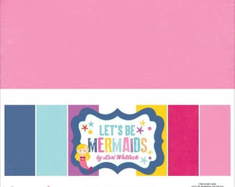SALE - Echo Park Let's Be Mermaids 12x12 Double Sided Solids Paper Pack