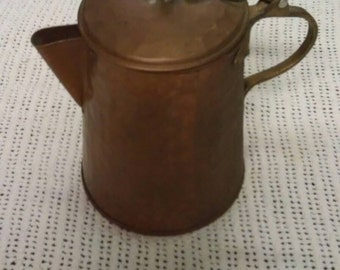 Copper Tea Kettle with Brass Handle