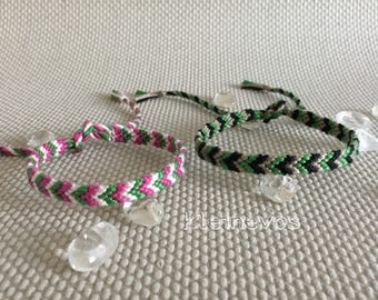 Chevron bracelet, colorful friendshipbracelet.
