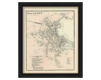 Village of Rockport 1872 Map