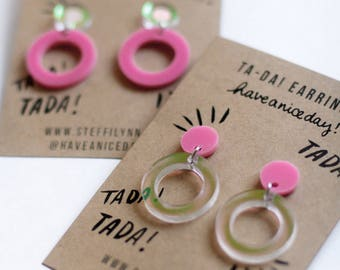 TADA! - Iridescent Hoop Earrings