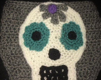 Diaper Cover, Candy Skull