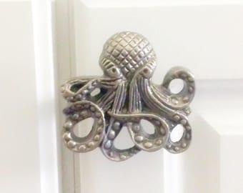 octopus bathroom cabinet pulls coastal furniture nautical pulls octopus decor beach
