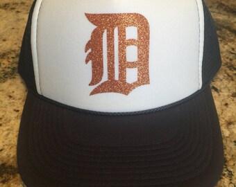 Detroit Tigers, glitter, bling,trucker hat