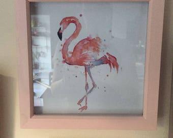 Flamingo Picture Box Frame