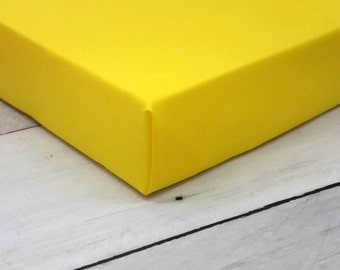 yellow crib sheets, yellow baby bedding, yellow, cot sheet, contoured changing pad cover, neutral, sunny yellow,