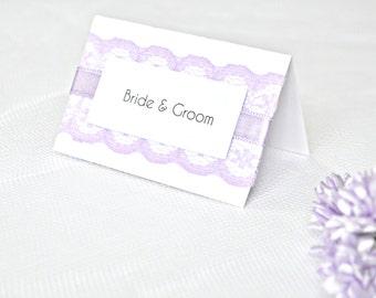 Lilac lace wedding place cards, Lavender wedding place cards, lilac wedding place cards, wedding placement cards, lilac placement cards