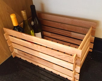 Bespoke handmade oak crate - Made to order