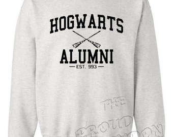 Hogwarts Alumni Tumblr Magic Fashion Unisex Crewneck Sweatshirt Jumper Top