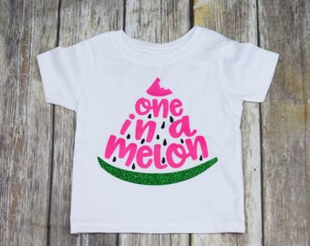 One in a Melon Shirt, First Birthday Shirt, Watermelon Shirt, 1 Year Old Shirt , Watermelon Tee, One in a Melon Tee, Watermelon Party shirt