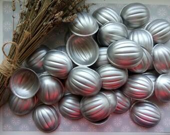 Set of 50 soviet aluminum baking molds, nuts molds, walnut molds, oreshki, cookies molds, soviet molds, nut molds, Russian cakes oreshki