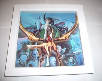 Panzer Dragoon Azel ~ Deluxe 3D Art Diorama Shadow Box sega mega cd sega cd psp eternal blue