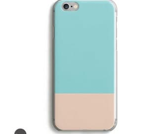 Matte iphone case, iphone se case, iphone 6s plus case, iphone 5s case, iphone 5 case, iphone 5c case, geometric iphone 6 case, Color Block
