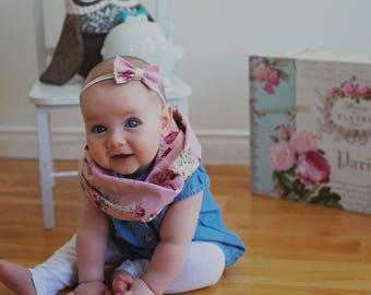 Skinny bow headband - Floral