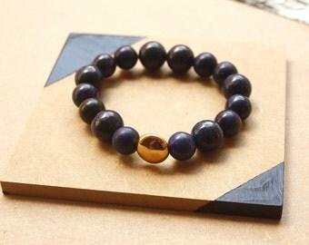 Bracelet - Lapis Lazuli - Gold