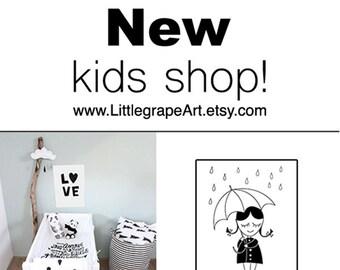 NEW kids art SHOP LittleGrapeArt :)