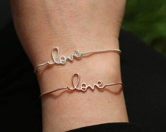 Written LOVE bracelet