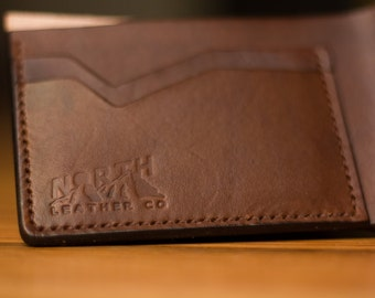 """The """"Simple Man"""" -  Mens Leather Bill Fold, Leather Wallet, Mens Wallet"""
