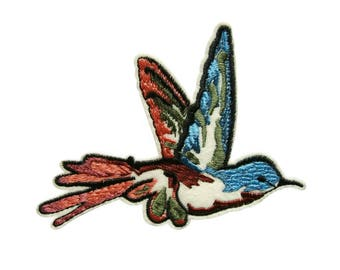 Flying Bird Embroidered Applique Iron on Patch