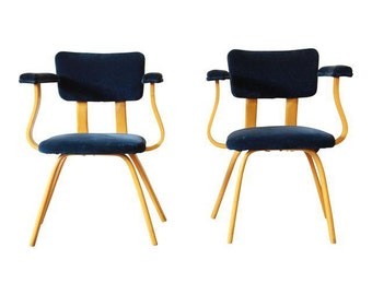 Ettore Sottsass for Memphis Attributed Vintage Bentwood Armchairs - A Pair