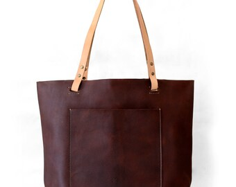 Leather Tote, Leather Bag, Large Leather Tote, 19
