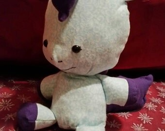 Blue & Purple Plush Pony, stuffed horse toy for children