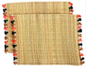 LOLA placemats with tassels - set of 2 HALLOWEEN