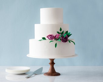 "Wedding Cake Stand - Modern Cake Stand - AHeirloom's Maple Wedding Cake Stand - 12""-14"" Cake Stand - unique wedding, Summer Wedding"