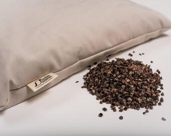 sobasama_organic buckwheat hull pillow_stone beige_4lbs_ 14x20 FREE SHIPPING